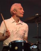 Charlie Watts The Rolling Stones Signed 8X10 Photo BAS #B62832