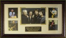 Charlie Watts unsigned Rolling Stones 5 Photo 29x20 Leather Framed (music/entertainment memorabilia)