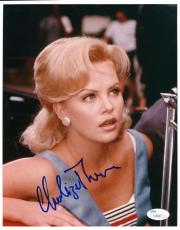 CHARLIZE THERON JSA COA HAND SIGNED 8x10 PHOTO AUTHENTIC AUTOGRAPH