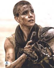Charlize Theron Mad Max Autographed Signed 8x10 Photo Beckett BAS COA