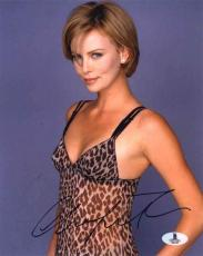Charlize Theron Sexy Autographed Signed 8x10 Photo Beckett BAS COA
