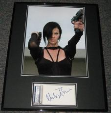 Charlize Theron SEXY Signed Framed 16x20 Photo Display PSA/DNA Aeon Flux