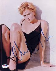 CHARLIZE THERON SIGNED AUTOGRAPHED 8x10 PHOTO VERY SEXY PSA/DNA