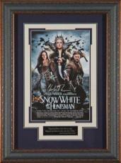 Charlize Theron signed Snow White and the Huntsman 22X30 Masterprint Poster Leather Framed 3 sigs (movie/entertainment/photo)