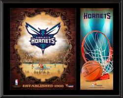 "Charlotte Hornets Sublimated 12"" x 15"" Team Logo Plaque"