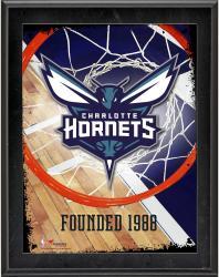 "Charlotte Hornets Team Logo Sublimated 10.5"" x 13"" Sublimated Plaque"