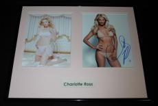 Charlotte Ross Signed Framed 16x20 Lingerie Photo Set AW NYPD Blue
