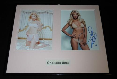 Charlotte Ross Signed Framed 16x20 Lingerie Photo Set AW NYPD Blue