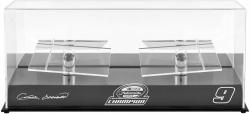 Chase Elliott 2014 NASCAR Nationwide Champion 2 Car 1/24 Scale Die Cast Display Case