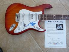 Cheap Trick All 4 Band Signed Autographed Music Electric Guitar PSA Certified