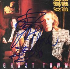 Cheap Trick Autographed Signed Ghost Town Record Sleeve AFTAL