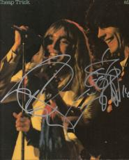 Cheap Trick Autographed Signed x2 At Budokan Album Cover AFTAL