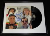 Cheap Trick Group Signed Framed 1982 One on One Record Album Display B