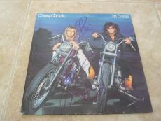 Cheap Trick In Color Signed Autographed LP x3 Zander Nielsen +1 PSA Guarantee