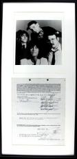 Cheap Trick- Nielsen, Zander, Brandt & Carlos Signed Framed Document PSA #T00162