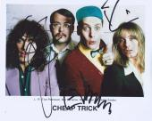 Cheap Trick Signed Autographed 8x10 Photo by 3 Robin Zander Nielsen Petersson D
