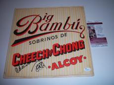 Cheech & Chong Big Bambu Sobrinos Tommy Chong Jsa/coa Signed Record Album