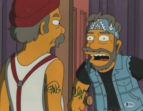 Cheech & Chong Signed 11x14 Simpsons Autograph Beckett Bas Coa