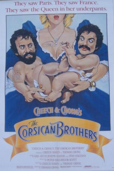 Cheech & Chong Signed CORSICAN BROTHER 27x40 POSTER JSA