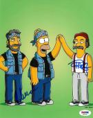 Cheech & Chong Signed Simpsons Authentic Autographed 8x10 Photo PSA/DNA #AD57185