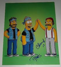 CHEECH & CHONG signed *THE SIMPSONS 11x14 Up in Smoke photo W/COA *PROOF* #2