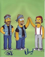 CHEECH & CHONG signed *UP IN SMOKE* *SIMPSONS* 8x10 photo PROOF W/COA #1