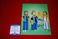 CHEECH & CHONG up in smoke cheech marin tommy chong signed BECKETT 8x10 simpsons