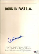 "Cheech Marin Signed ""Born in East L.A"" Prod. Folder PSA"