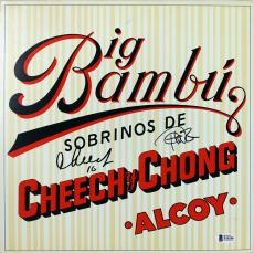 Cheech Marin & Tommy Chong Double Signed Album Big Bambu Cover W/ Vinyl BAS