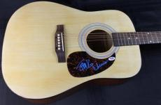 Cheech Marin & Tommy Chong Signed Acoustic Guitar PSA/DNA #Q51373