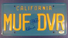 Cheech Marin Tommy Chong Signed Auto California License Plate PSA/DNA Z70279