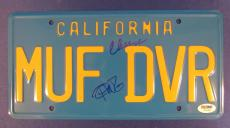 Cheech Marin Tommy Chong Signed Auto California License Plate PSA/DNA Z70280