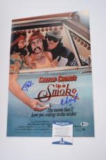 Cheech Marin & Tommy Chong Signed Autographed 12x18 Photo Up In Smoke BAS COA