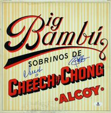 Cheech Marin & Tommy Chong Signed Big Bambu Album Cover W/ Vinyl BAS #B03506