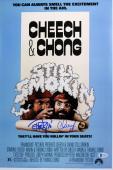 Cheech Marin & Tommy Chong Still Smokin Signed 12x18 Movie Poster BAS #C19929