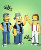 Cheech Marin & Tommy Chong The Simpsons Signed 8X10 Photo BAS #B18151