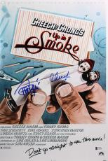 Cheech Marin & Tommy Chong Up In Smoke Signed 12x18 Movie Poster BAS #C19928