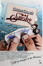 Cheech Marin & Tommy Chong Up In Smoke Signed 12x18 Movie Poster BAS #C19932