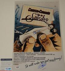 Cheech Marin & Tommy Chong 'up In Smoke' Signed 12x18 Poster Psa/dna Coa Y58325
