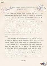 Cheech & Chong Signed Original Production Notes PSA/DNA COA The Corsican Brother