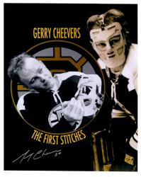 "Gerry Cheevers Boston Bruins Autographed 16"" x 20"" The First Stitch Photograph"