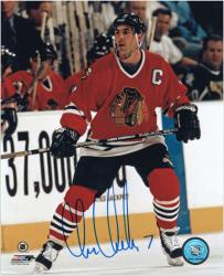 "Chris Chelios Chicago Blackhawks Autographed 8"" x 10"" Photograph - Mounted Memories"