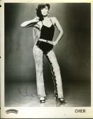 CHER 1970`S JSA COA HAND SIGNED 8x10 PHOTO AUTHENTICATED AUTOGRAPH