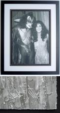 Cher and Gene Simmons - James Fortune Limited Edition Fine Art Giclee Lithograph Photo Print - Black FRAME - Guaranteed to pass PSA or JSA measures 22x28 inches - Custom FRAMED - Guaranteed to pass PSA or JSA - Fleetwood Mac