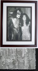 Cher and Gene Simmons - James Fortune Limited Edition Fine Art Giclee Lithograph Photo Print - Mahogany FRAME 22x28 inches - Custom FRAMED - Guaranteed to pass PSA or JSA