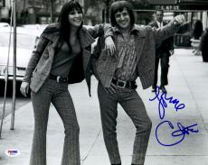 "Cher Autographed 11"" x 14"" With Sonny B&W Photograph - PSA/DNA COA"