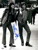 "Cher Autographed 11"" x 14"" With Sonny B&W Vertical Photograph - PSA/DNA COA"