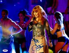 "Cher Autographed 11""x 14"" Gold Outfit Photograph - PSA/DNA COA"