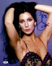"Cher Autographed 11""x 14"" Hands Behind Head Photograph - PSA/DNA COA"