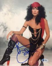 """Cher Autographed 8""""x 10"""" Black Boots Photograph - BAS COA"""